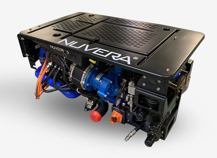 Photo of the Nuvera fuel cell.