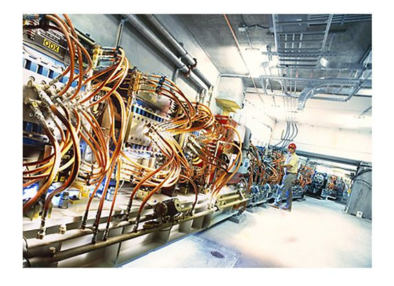 Figure 1. Section of the SPEAR3 synchrotron at the SLAC National Accelerator Laboratory.