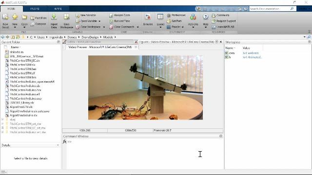 Learn how MATLAB and Simulink can be used to quickly develop and iterate on algorithms in areas such as signal processing, controls, and image processing, and run them standalone on Arduino and production hardware boards.