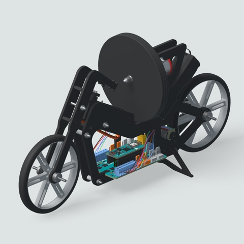 Arduino - A self-balancing motorcycle
