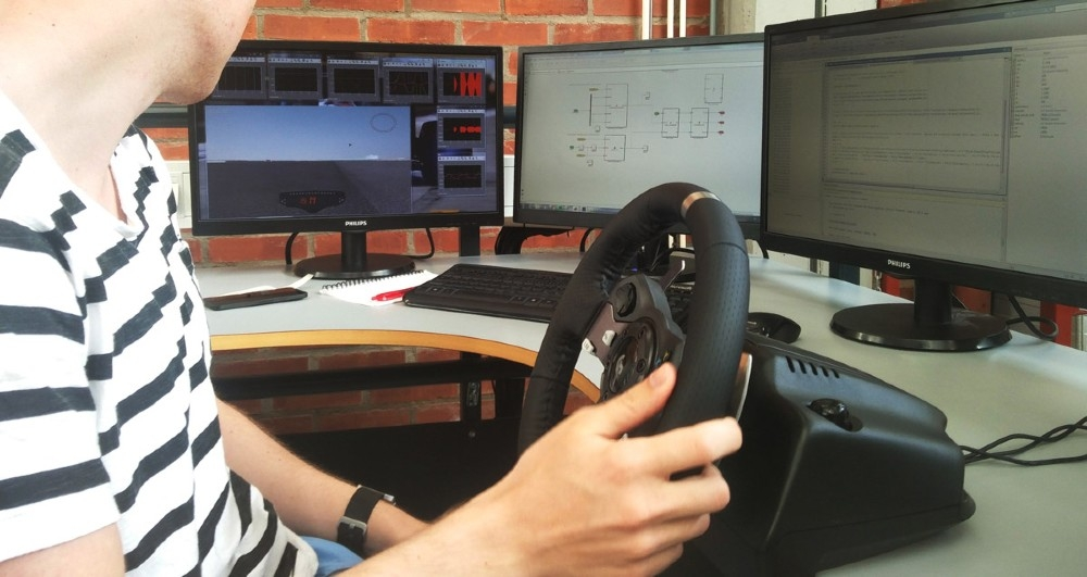 Figure 4. A graduate student running a vehicle dynamics model simulation.