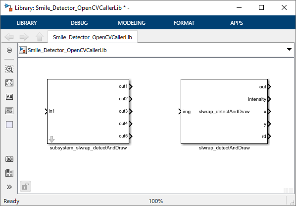 Smile Detection by Using OpenCV Code in Simulink