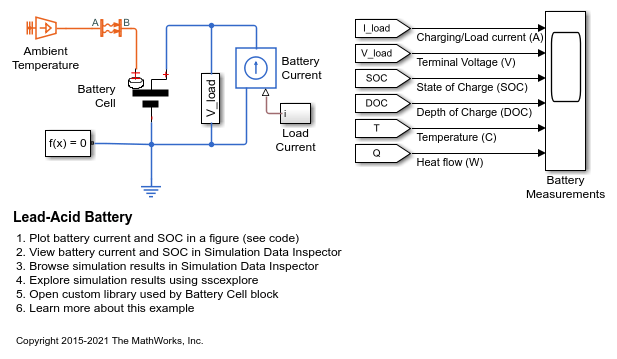 Lead acid battery matlab simulink ccuart Images