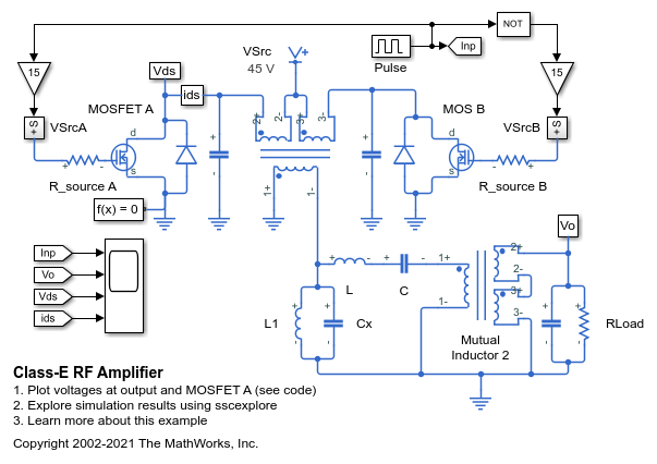 class e rf amplifier matlab \u0026 simulinkClass E Amplifier Circuit Diagram #14