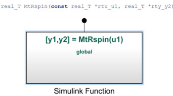 Simulink Function Code Interface