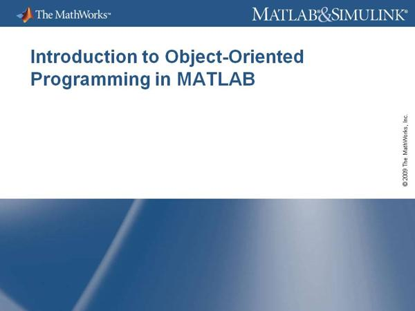 Object-oriented programming with Matlab