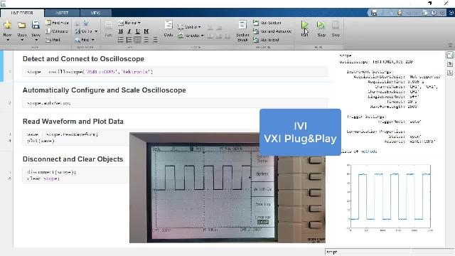 Control and communicate with test and measurement instruments using Instrument Control Toolbox.