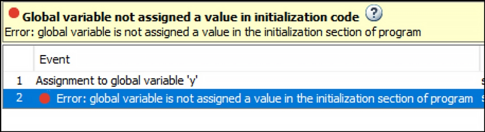 Checks for Issues in Initialization Code