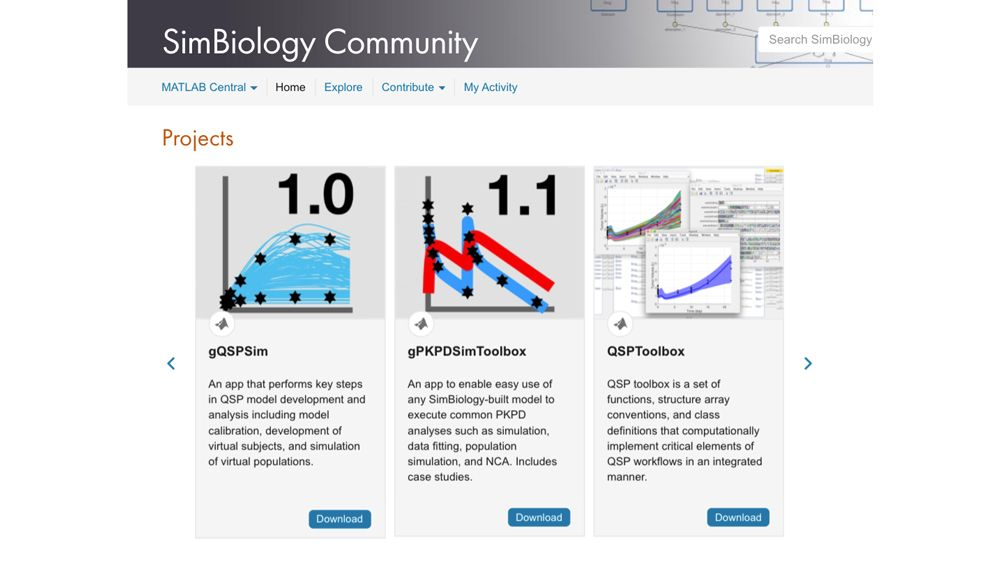 Community contributed tools from SimBiology Online Community.