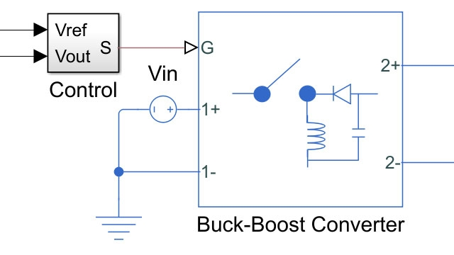 Inverting topology buck-boost converter control.