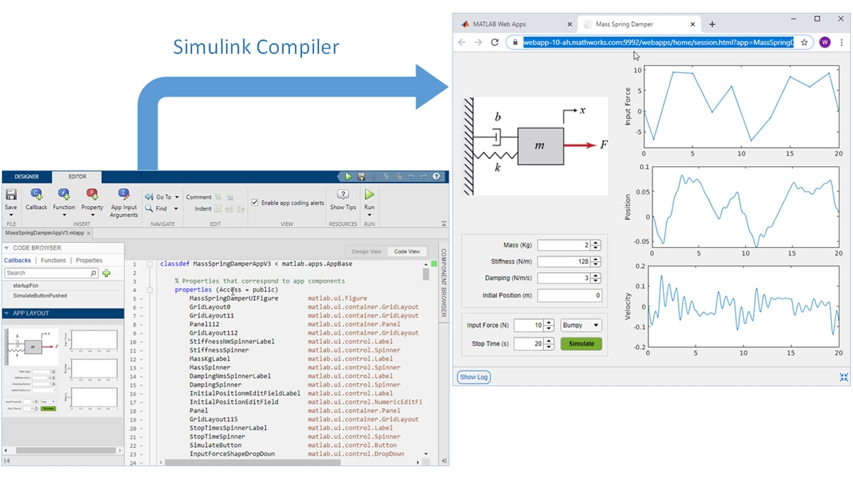 Package the application created by MATLAB App Designer as a Web App.
