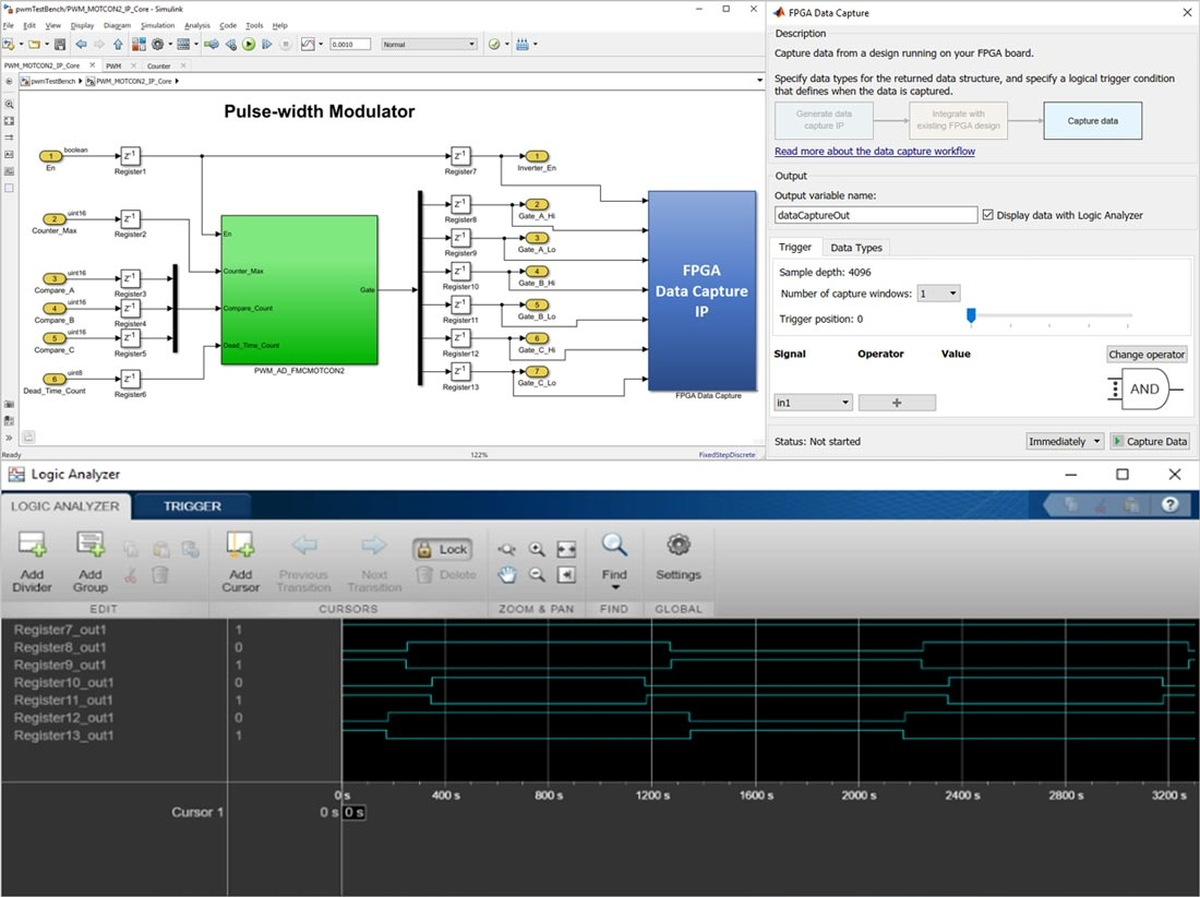 Capture signals and upload to MATLAB for analysis