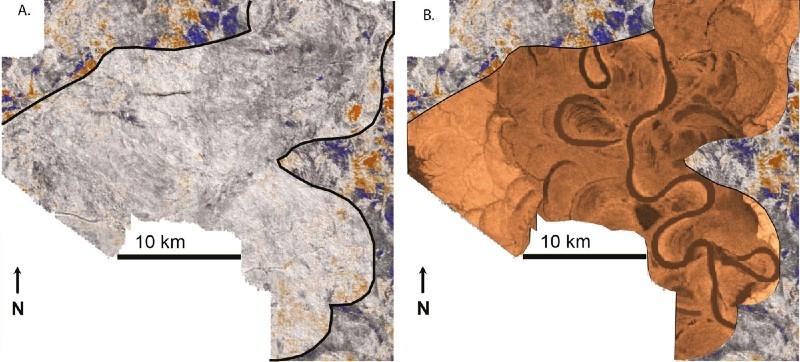 Original and enhanced seismogram image