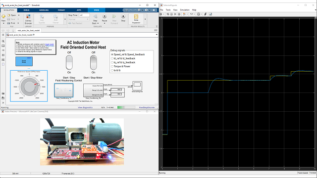 Learn how to design field-oriented control algorithms for induction motors using Simulink and Motor Control Blockset. See how to generate code and deploy it on an embedded microcontroller using Embedded Coder.