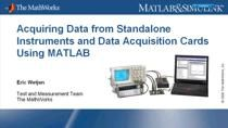 Many applications require access to live or real-world data from external devices in order to solve technical computing problems and perform data analysis and visualization. Applications in test and measurement must connect to a wide range of equipme