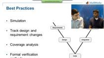 In this webinar you will learn techniques and practices in Model-Based Design to verify and validate software designs and embedded code using MathWorks tools. We will address requirements driven development, model coverage testing, and static code an