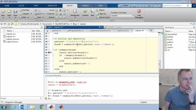 This code-along video is the second in a series where I'm creating a MATLAB function to split a URL into component parts. Here I add more tests, return more components, and add a parameter to specify which components to return.