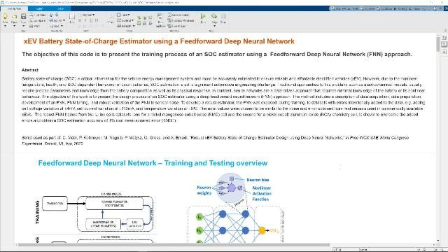 See the neural network training process and the Simulink implementation of the method.