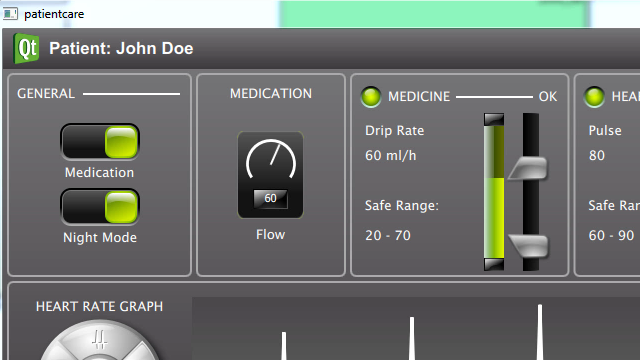 Simulate and test the supervisory control logic behind a medical device HMI to detect design flaws early.
