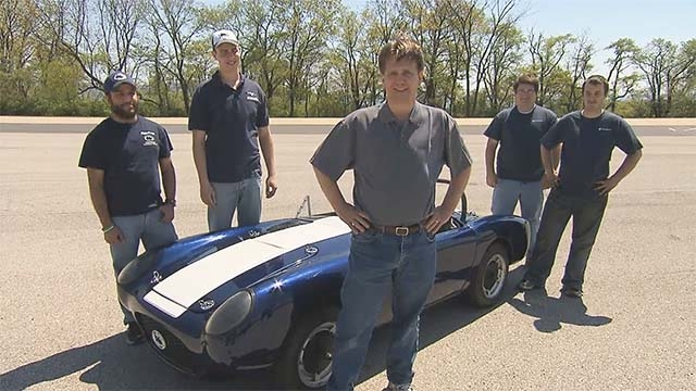 Students develop control algorithms for a hybrid electric engine, implement them in a vehicle, and test fuel efficiency on the track.