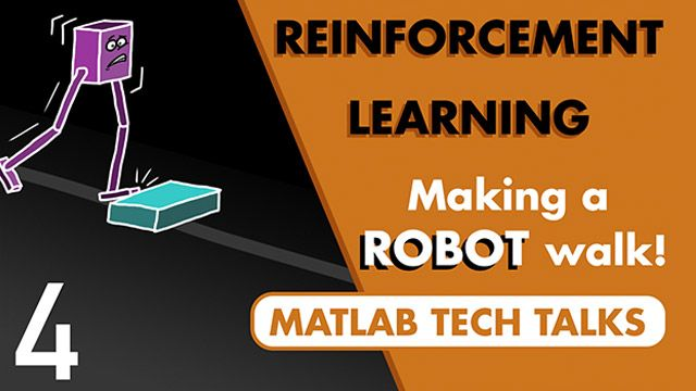 This video shows how to use the reinforcement learning workflow to get a bipedal robot to walk, and how we can set up the RL problem to look more like a traditional control problem by adding a reference signal to the design.