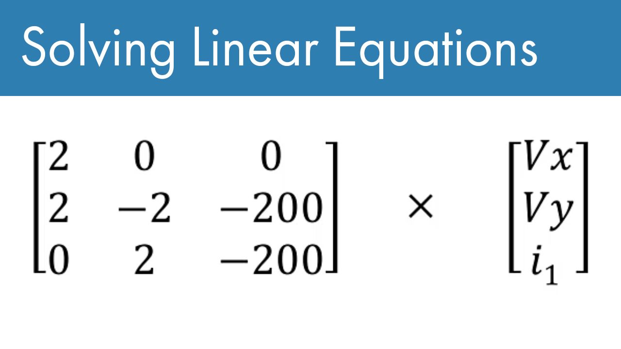 Learn how to solve a system of linear equations in MATLAB.