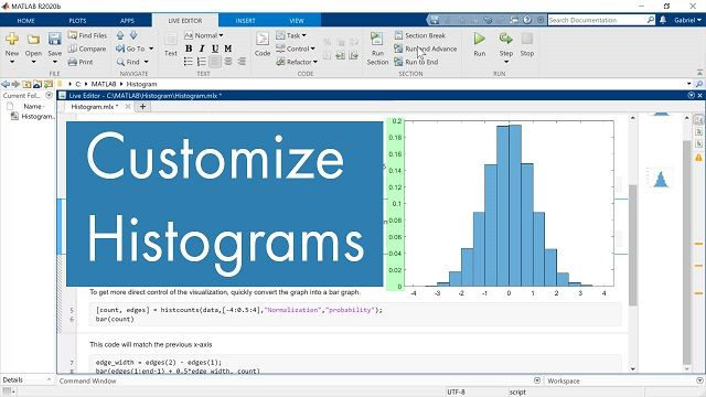 I recently had a question come in via e-mail where this MATLAB user wanted to be able to change the look of her histogram. The key to this problem was using HIST to generate the binning data and then use the more flexible BAR to make the bar chart lo